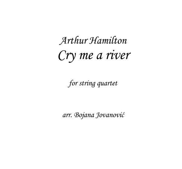 Cry me a river (Arthur Hamilton) - Sheet Music