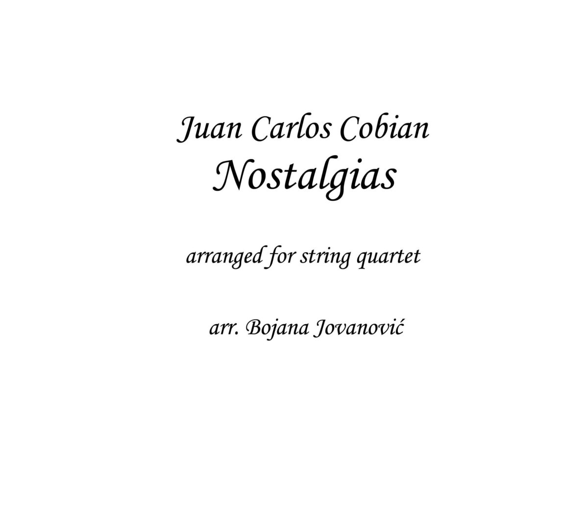 Nostalgias (J. C. Cobian) - Sheet Music