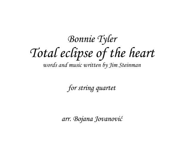 Total eclipse of heart (Bonnie Tyler) - Sheet Music