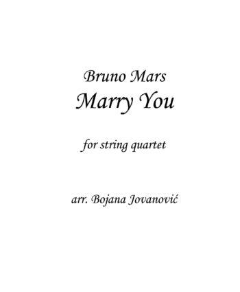 Marry you (Bruno Mars) - Sheet Music