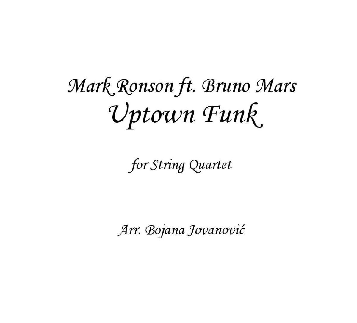 Uptown Funk (Mark Ronson ft Bruno Mars) - Sheet Music
