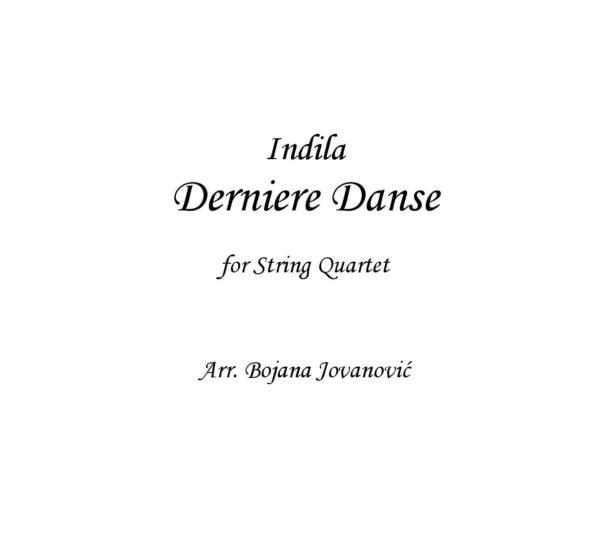 Derniere danse (Indila) - Sheet Music