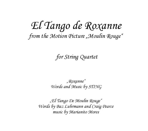 El Tango de Roxanne (Moulin Rouge) - Sheet music