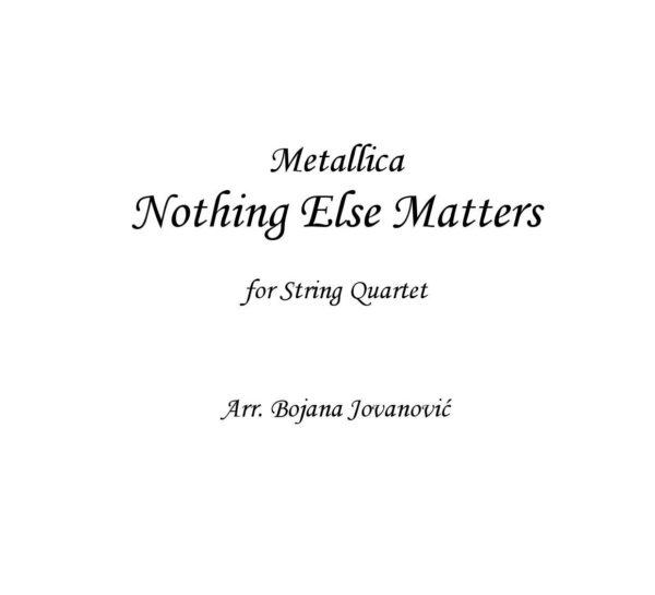 Nothing Else Matters Sheet music (Metallica)