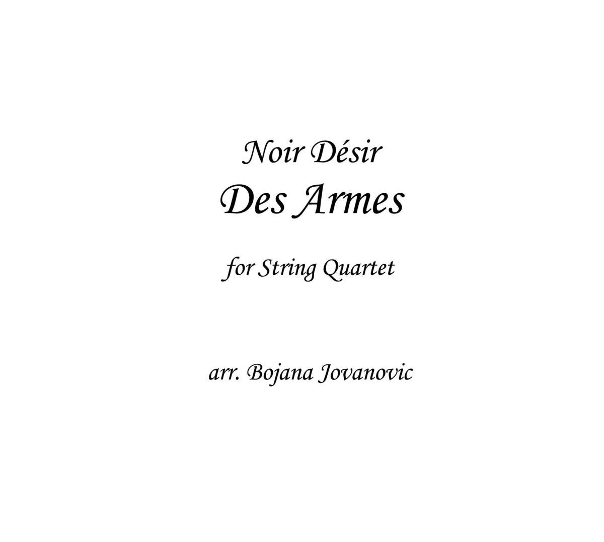 Des Armes (Noir Desir) - Sheet Music