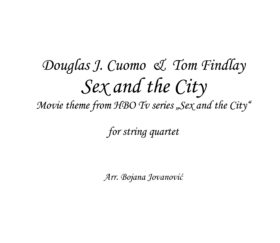 Sex and the City Sheet music - opening theme