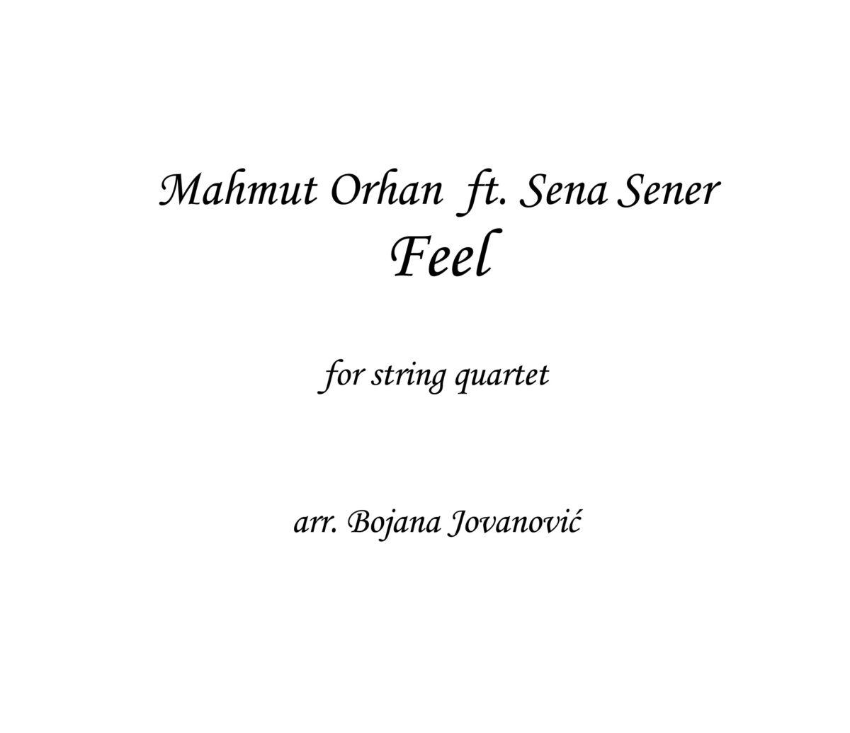 Feel Mahmut Orhan Sheet Music (Mahmut Orhan ft Sena Sener)