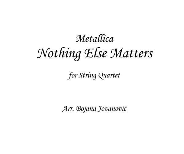 Nothing Else Matters Metallica Sheet music