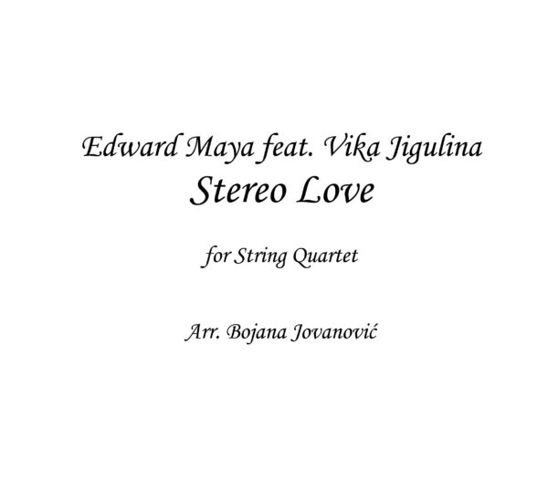 Stereo Love (Edward Maya) - Sheet Music