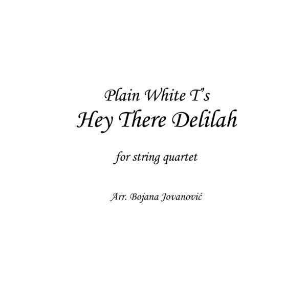 Hey There Delilah (Plain White T's) - Sheet Music