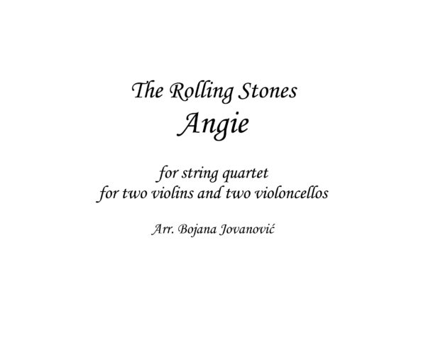 Angie Sheet music (The Rolling Stones)