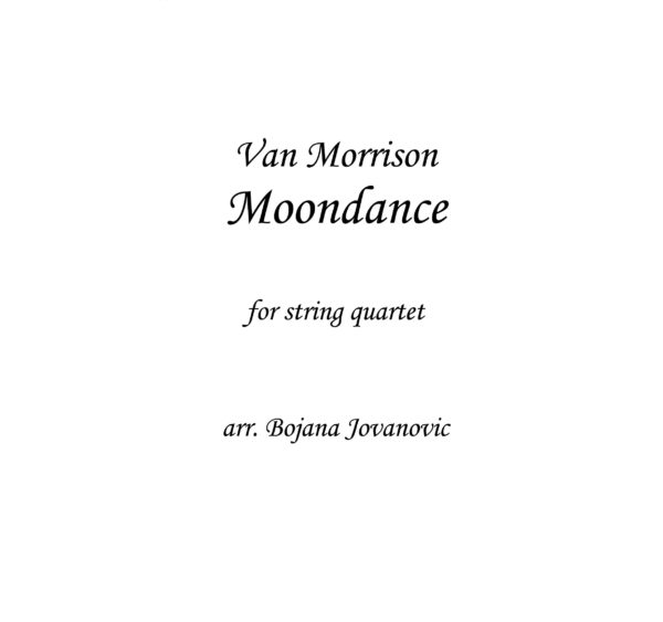 Moondance (Van Morrison) - Sheet Music