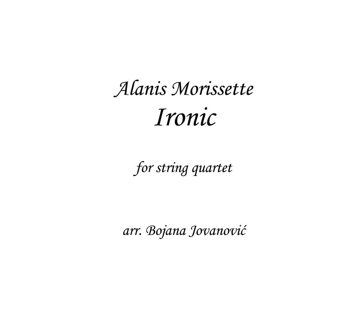 Ironic (Alanis Morissette) - Sheet Music