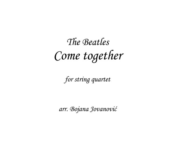 Come together (The Beatles) - Sheet Music