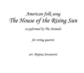 House of the rising sun (The Animals) - Sheet Music