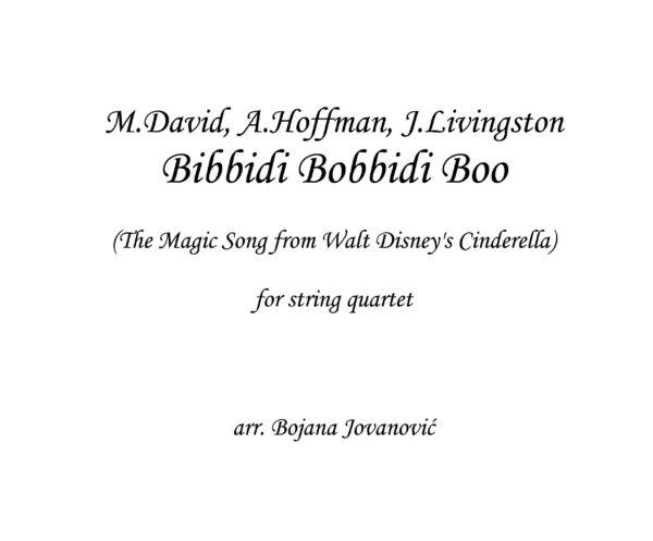 Bibbidi Bobbidi (Cinderella) - Sheet music