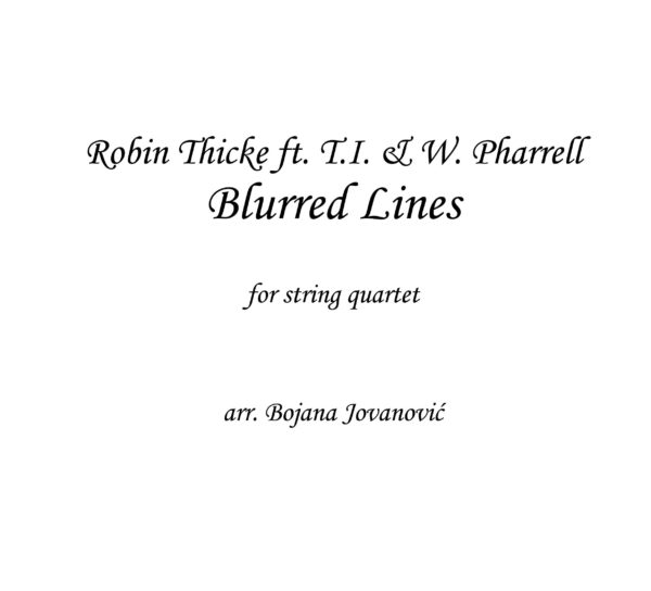 Blurred Lines (Robin Thicke) - Sheet Music