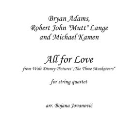 All for love (Bryan Adams) - Sheet Music