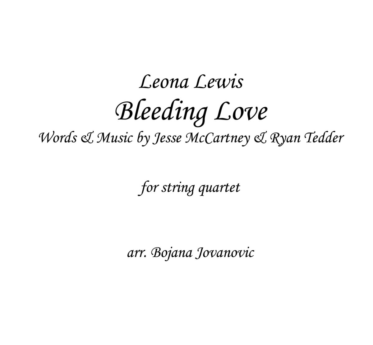 Bleeding Love (Leona Lewis) - Sheet Music