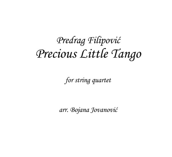 Precious Little Tango (Predrag Filipovic) - Sheet Music