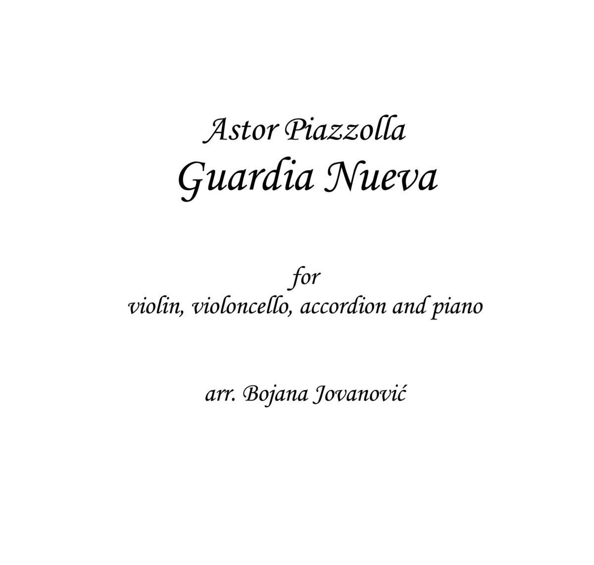 Guardia nueva Sheet music (Astor Piazzolla)