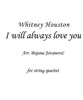 I will always love you (Whitney Houston) - Sheet music