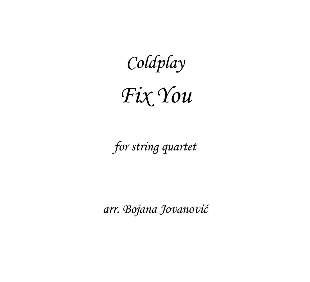 Fix You Sheet music (Coldplay)
