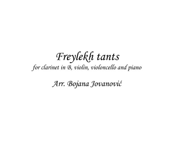 Freylekh Tants (Klezmer) - Sheet Music