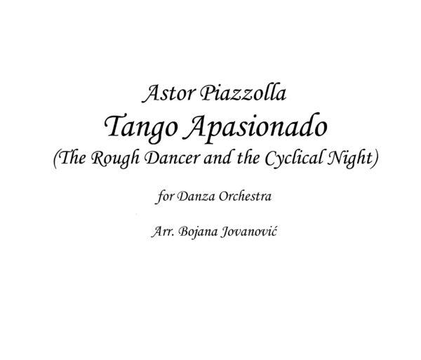 Tango Apasionado Sheet music (Astor Piazzolla)
