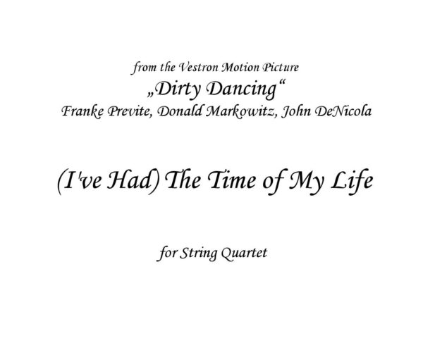 The Time of my life (Dirty dancing) Sheet music