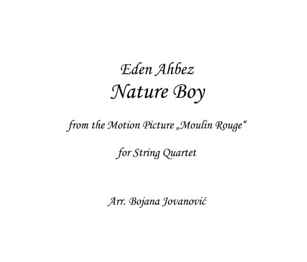 Nature Boy (Moulin Rouge) - Sheet music