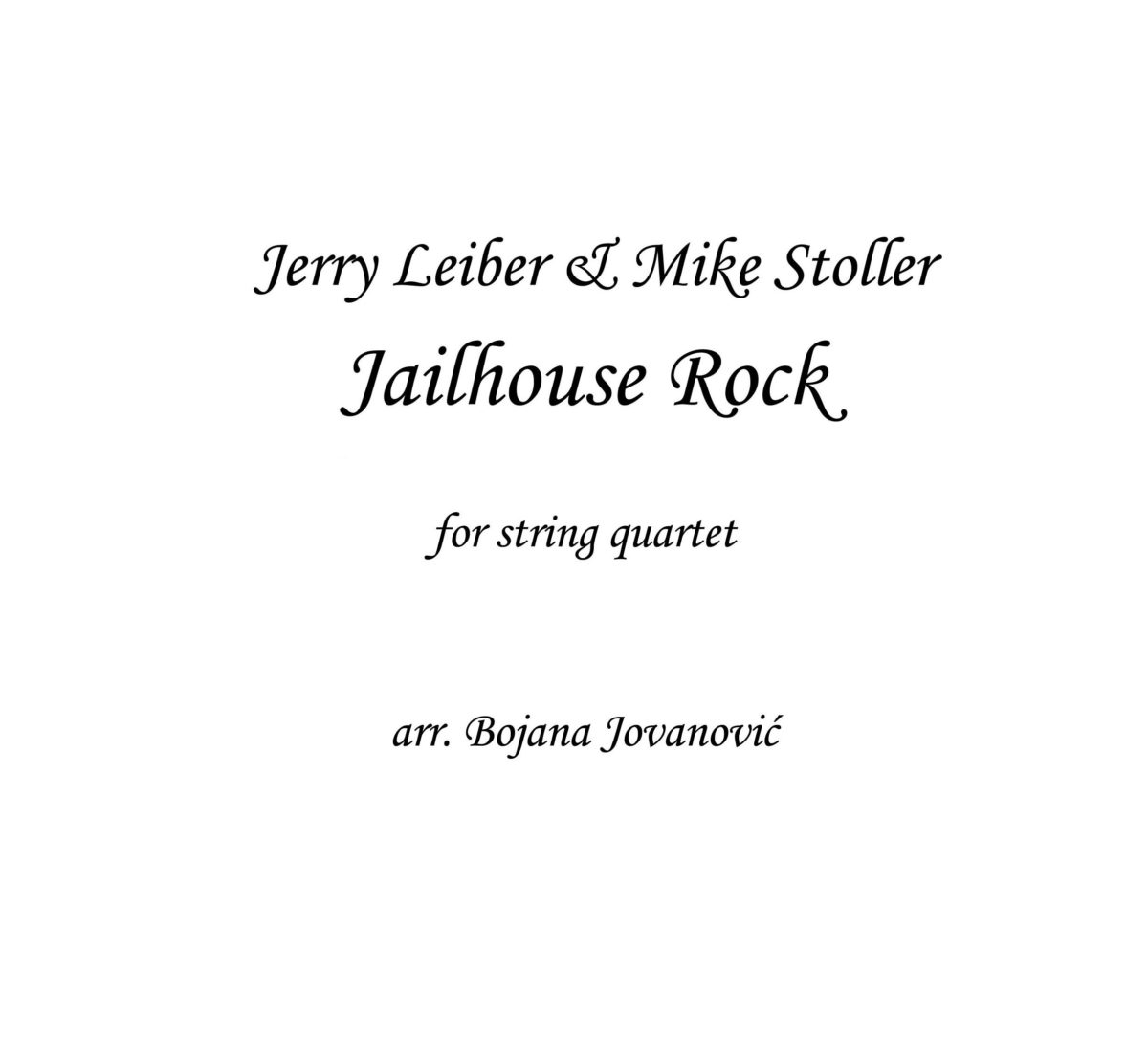 Jailhouse Rock Sheet music (The Blues Brothers)