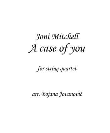 A case of you Joni Mitchell Sheet music