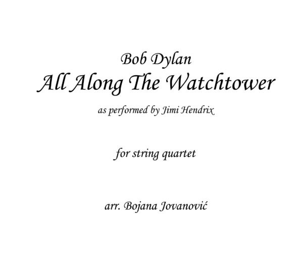 All along the watchtower Bob Dylan Sheet music