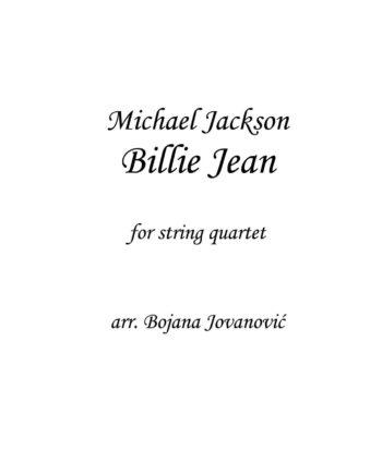 Billie Jean Michael Jackson Sheet music