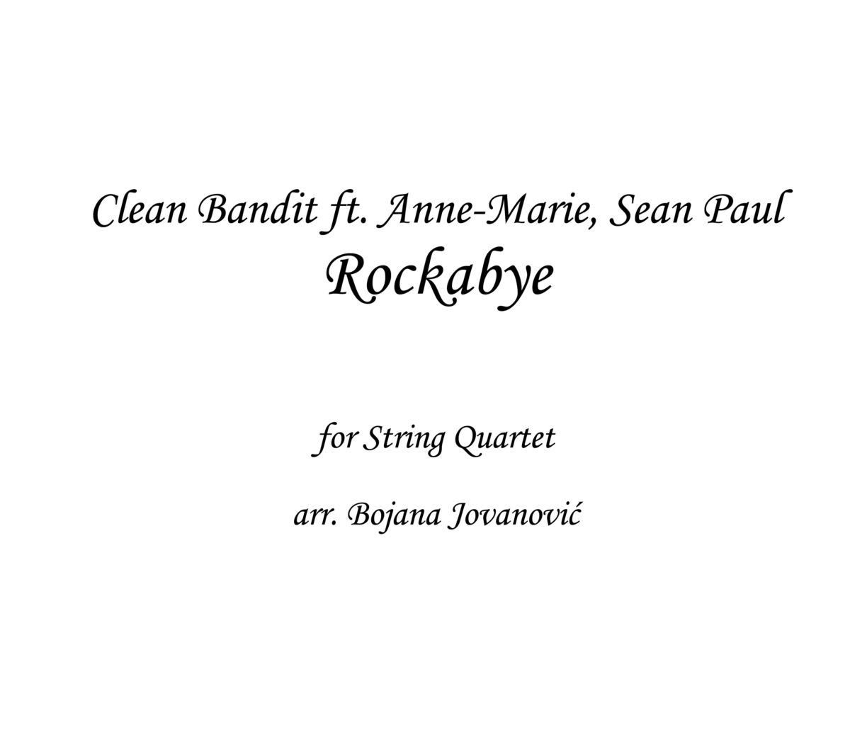 Rockabye Clean Bandit Sheet music