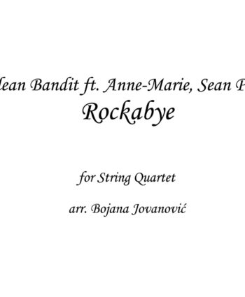 Rockabye Clean Bandit Sheet music