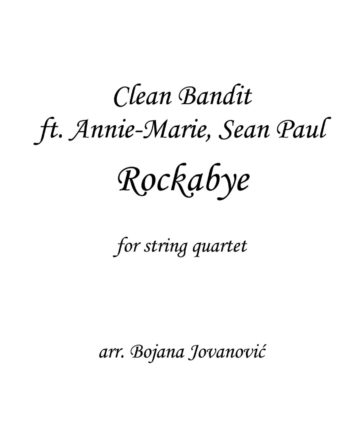 Rockbye Clean Bandit Sheet music