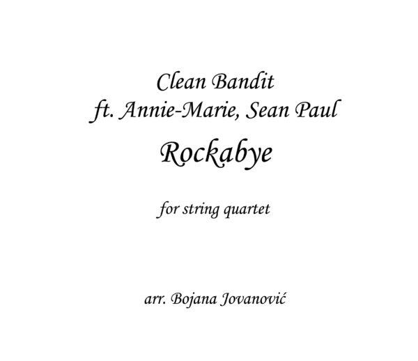 Rockbye Clean Bandit Sheet music