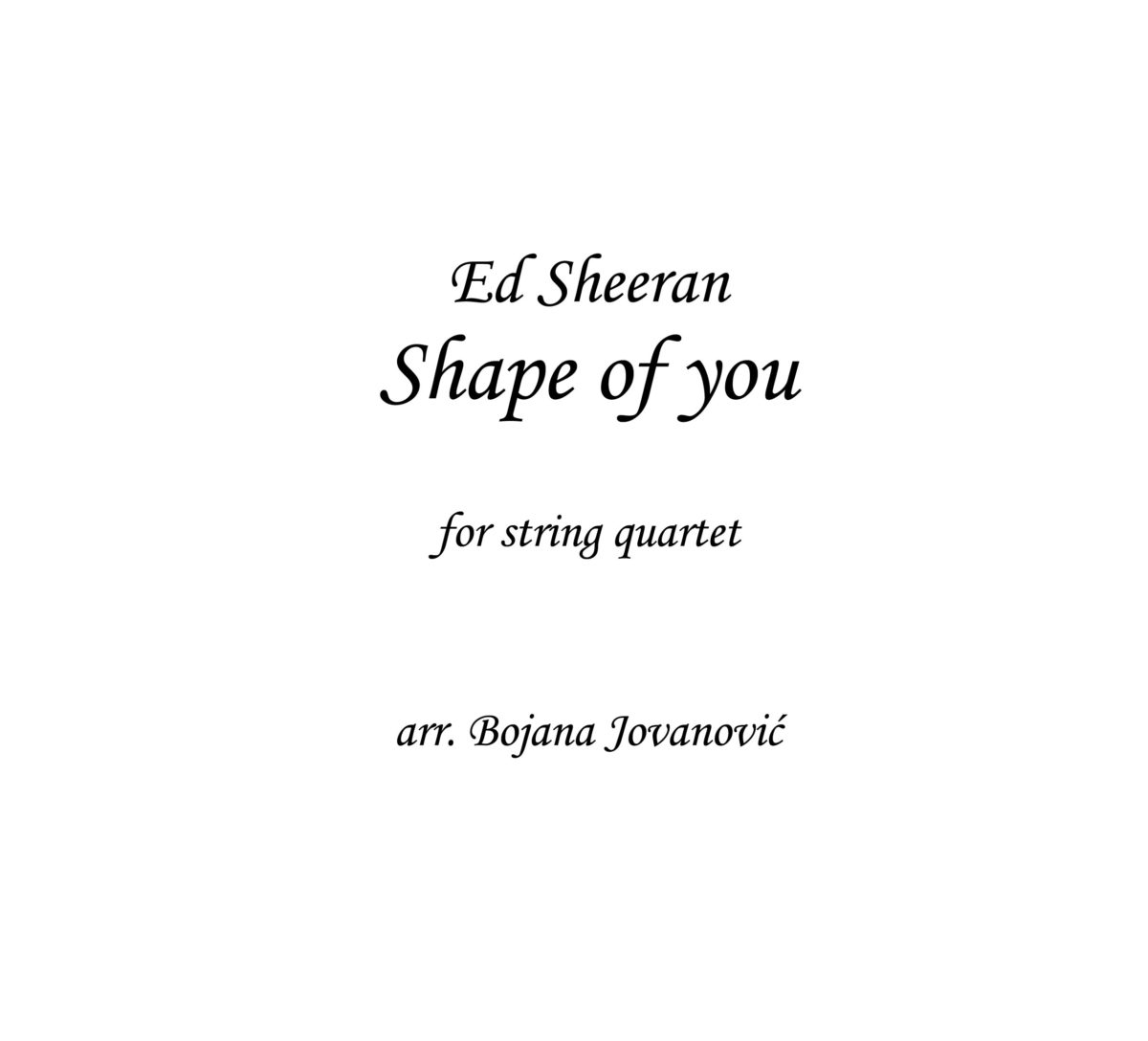 Ed Sheeran Shape of you Sheet music