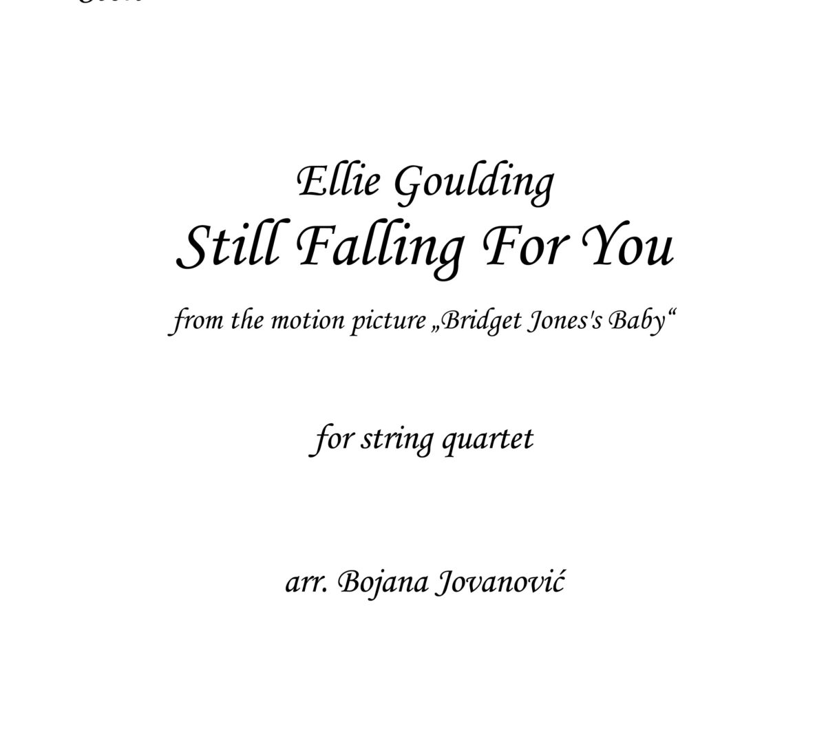 Still falling for you Ellie Goulding Sheet music