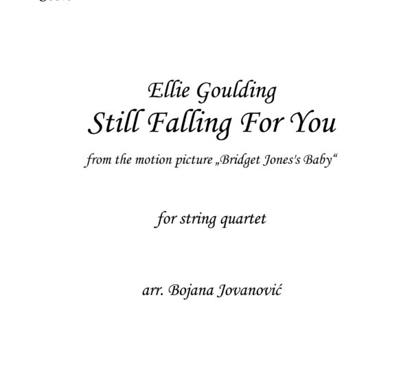 Still falling for you Ellie Goulding Sheet music