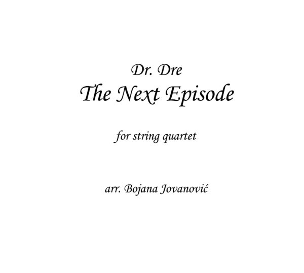 Dr Dre The Next Episode Sheet music