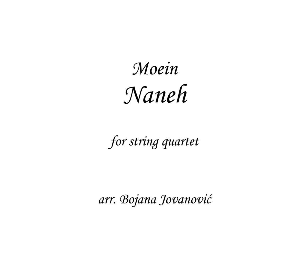 Naneh Moein Sheet music
