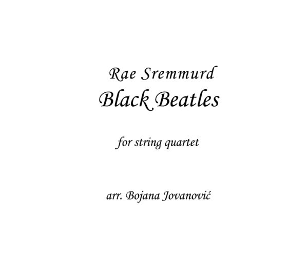 Black Beatles Sheet music (Daj Jordan)