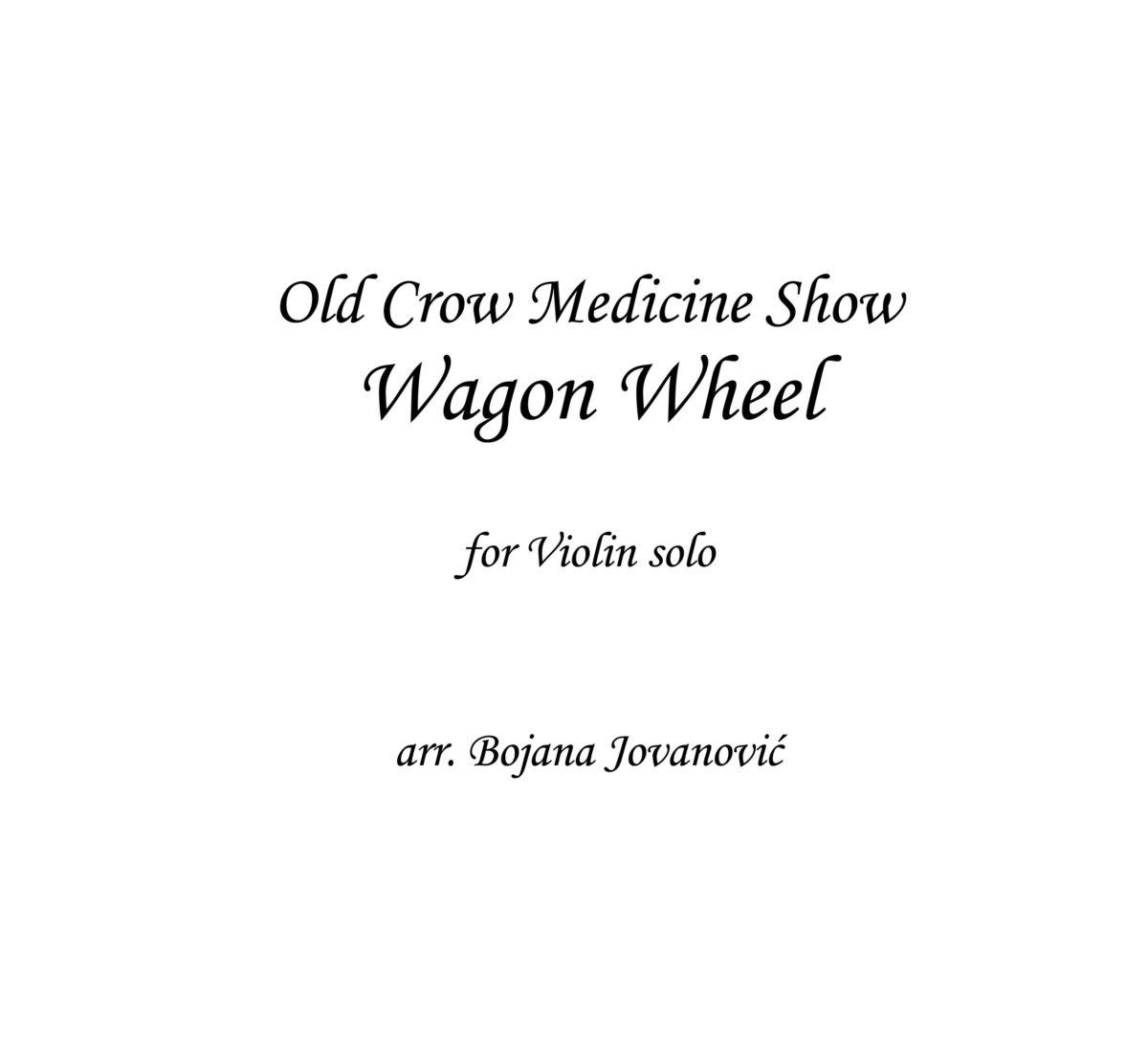 Wagon Wheel (Old Crow Medicine Show) Sheet music