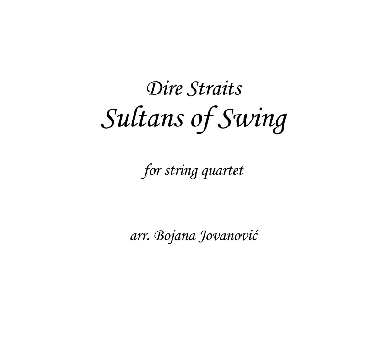Dire Straits Sultans of Swing Sheet music