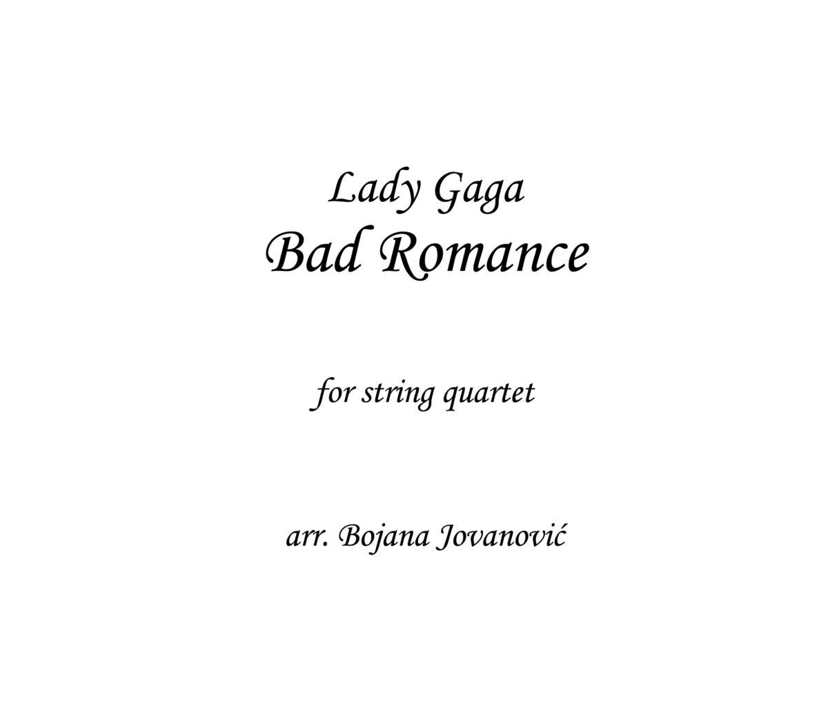 Bad Romance Lady Gaga Sheet music