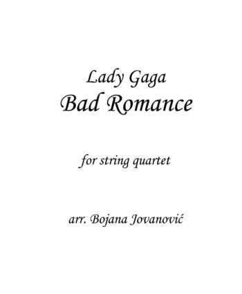 Bad Romance Lady Gaga Sheet music