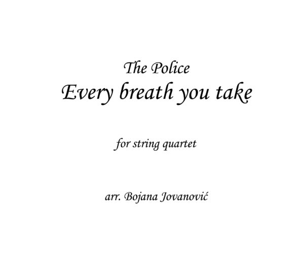 Every breath you take (The Police) Sheet music